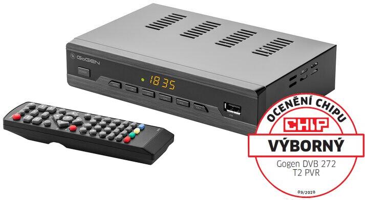 GoGEN DVB 272 T2 PVR , DVB-T2, černá