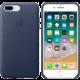 Apple kožený kryt na iPhone 8 Plus / 7 Plus, půlnočně modrá