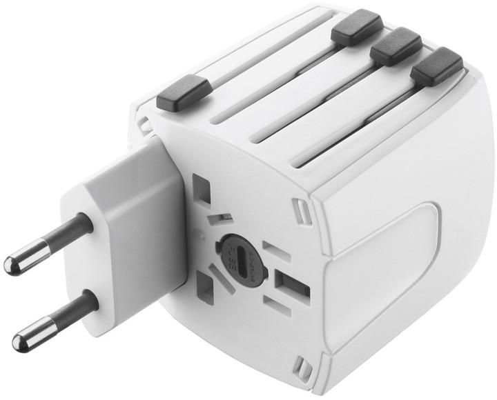 CellularLine univerzální cestovní adaptér pro všechny světové elektrické sítě
