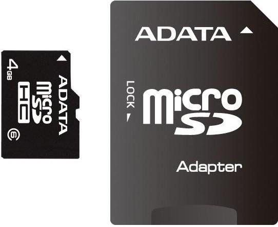 ADATA Micro SDHC 4GB Class 4 + adaptér