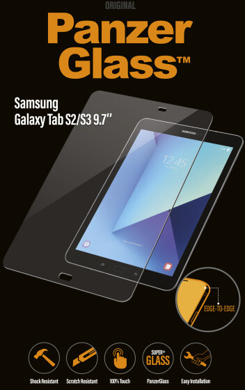 PanzerGlass Edge-to-Edge pro Samsung Galaxy Tab S2/S3 9 7'', čiré