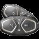 CellularLine Bluetooth handsfree pro uzavřené a otevřené přilby Interphone CONNECT, Twin Pack