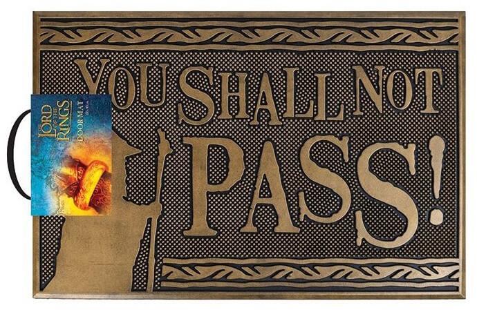 Rohožka The Lord Of The Rings - You Shall Not Pass!, gumová