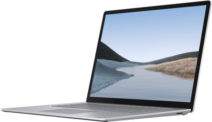 Microsoft Surface Laptop 3, platinová