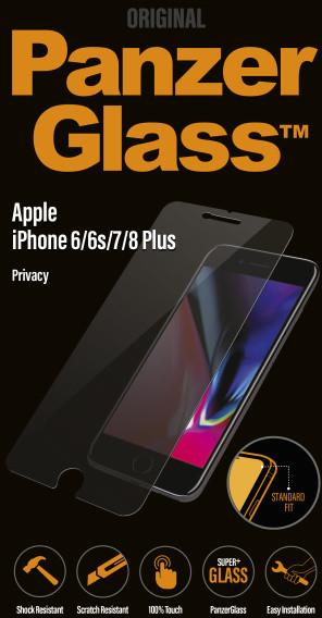 PanzerGlass Standard Privacy pro Apple iPhone 7, čiré