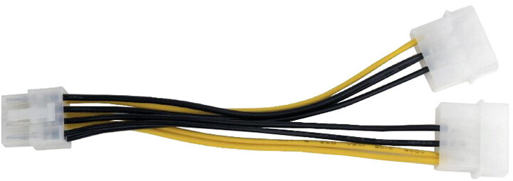 Gembird CABLEXPERT kabel 2x Molex na PCI express 8 pin, 15cm