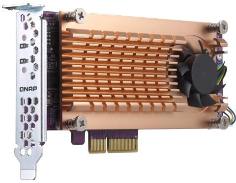 QNAP QM2-2S-220A - Duální rozšiřující karta pro disky SSD M.2 22110/2280 SATA