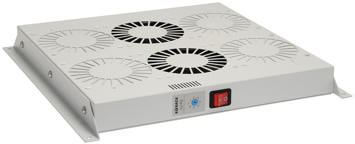 Solarix ventilační jednotka, 2 ventilátory s termostatem. RAL 7035, VJ-R2