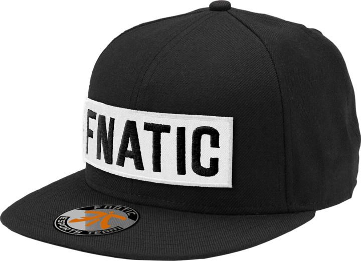 Kšiltovka Fnatic Flat Brim, White Box, černá