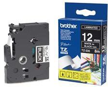 Brother páska - TZE-335, černá/bílá (12mm, laminovaná)