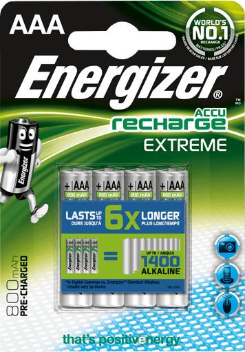 Energizer baterie AAA/HR03 EXTREME nabíjecí 800mAh , 4ks