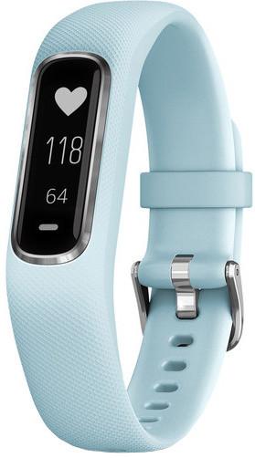 Garmin vivoSmart4 Silver with Azure Blue Band (velikost S/M)