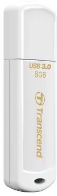 Transcend JetFlash730 8GB, bílá