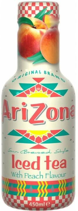 AriZona Iced Tea with Peach Flavour, ledový čaj, broskev, 450 ml