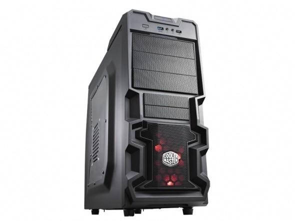 CoolerMaster K380, černá, bez zdroje, průhledná bočnice