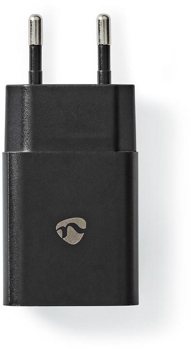 Nedis síťová nabíječka, USB-A, 12W, černá