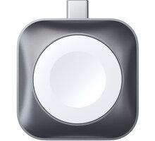 Satechi dokovací stanice USB-C pro Apple Watch, magnetická, šedá - ST-TCMCAWM