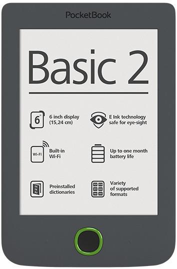 PocketBook 614 Basic, šedá