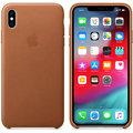 Apple kožený kryt na iPhone XS Max, sedlově hnědá