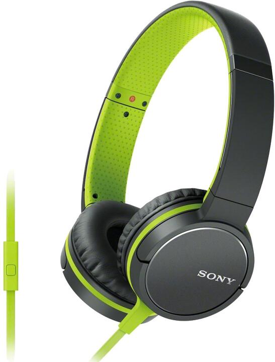 Sony sluchátka MDR-ZX660AP, zelená