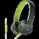Sony sluchátka MDR-ZX660AP, zelená  + 300 Kč na Mall.cz