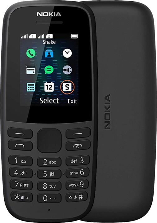Nokia 105 2019 (TA-1174), Dual Sim, Black
