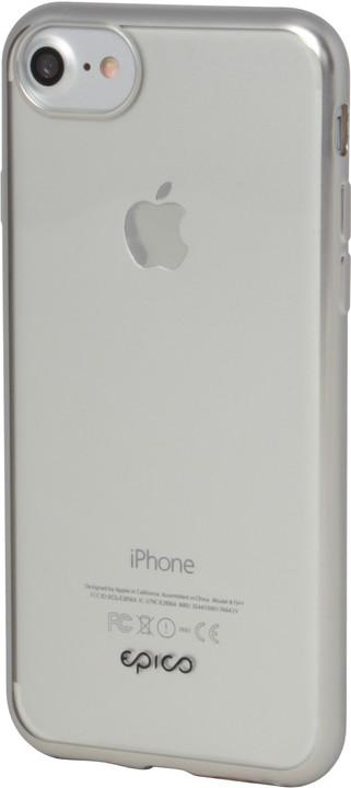 EPICO Pružný plastový kryt pro iPhone 6/7/8 MATT BRIGHT- stříbrný