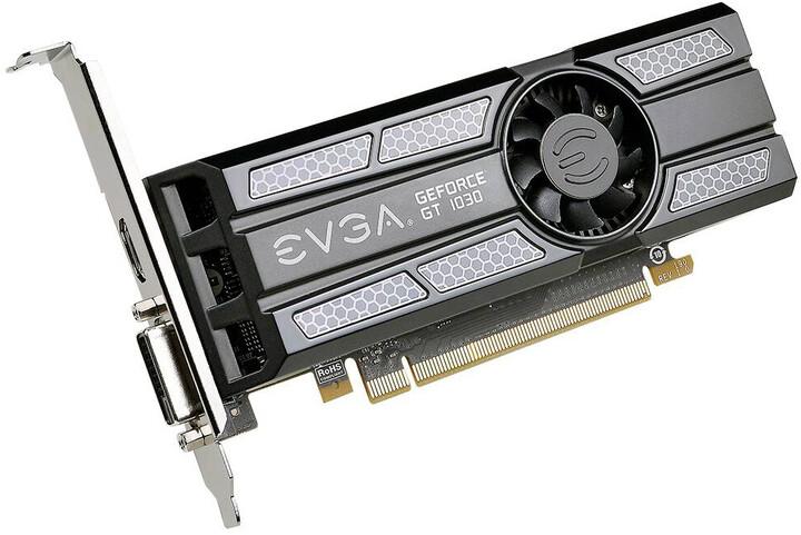 EVGA GeForce GT 1030 SC (Low Profile), 2GB GDDR5