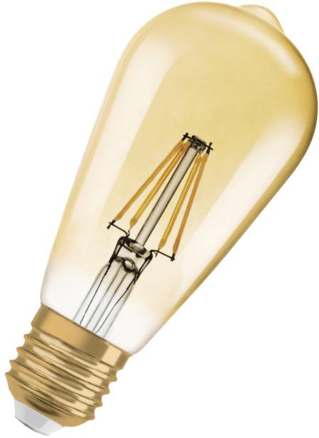 Osram LED Filament Vintage 1906 Edison 2,5W 825 E27 noDIM A++ 2500K