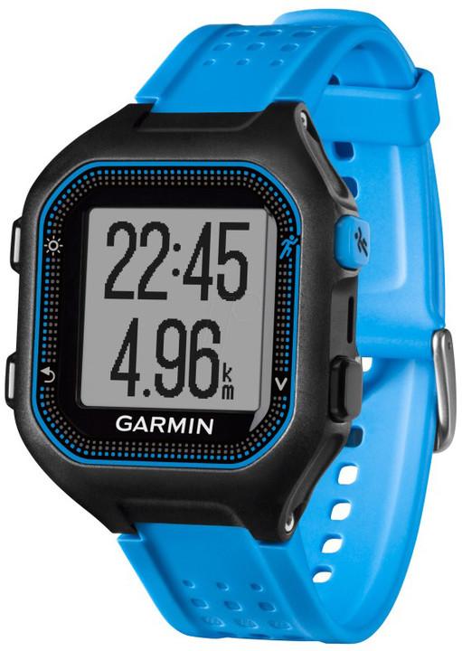 Garmin Forerunner 25 HR, XL, modrá/černá