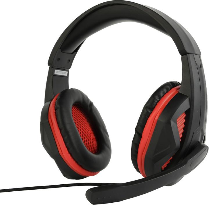 Gembird GHS-03, černá/červená