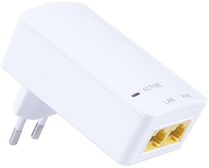 MaxLink PI15S PoE injektor, 802.3af, 48V/0.32A, 15,4W, 1Gbit, do zásuvky