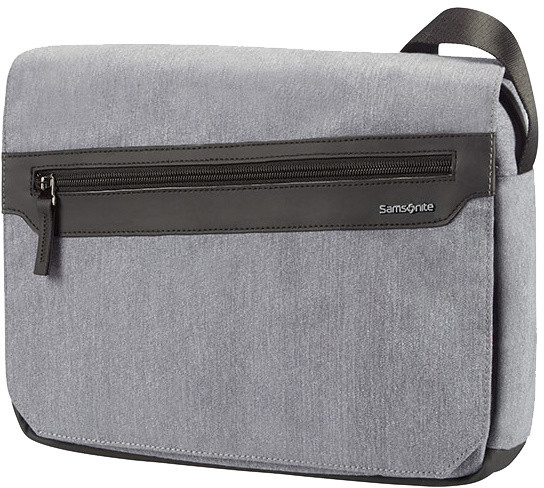 "Samsonite Hip-Style 2 - TABLET MESSENGER BAG 10.1"" + FLAP, světle šedá"