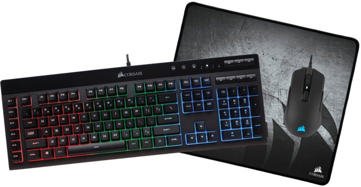 Corsair 3-in-1 Gaming Bundle Set, černý, US
