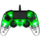 Nacon Wired Compact Controller, průhledný zelený (PS4)