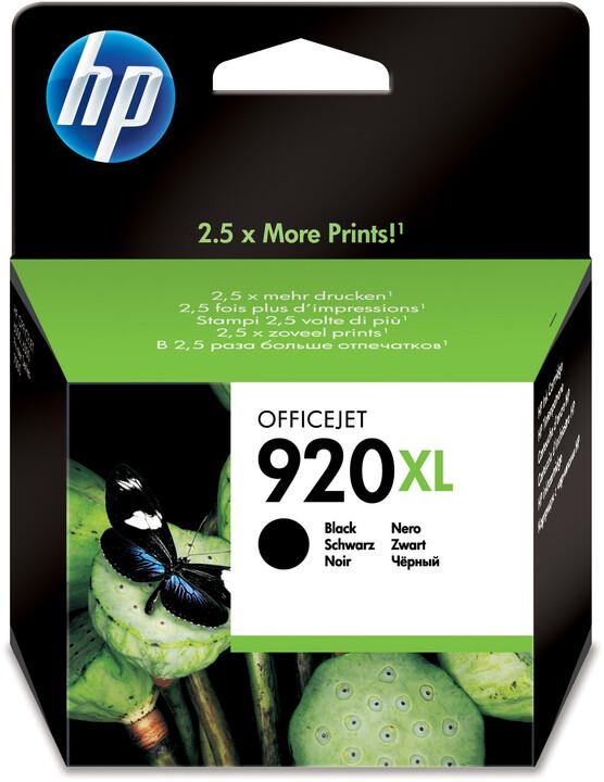 HP CD975AE, č. 920XL, černá – ušetřete až 50 % oproti standardní náplni