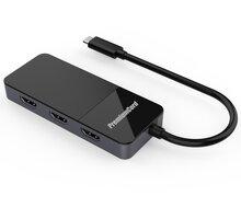 PremiumCord adaptér USB-C - 3xHDMI 2.0 4K@60Hz, MST - ku31hdmi11
