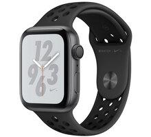 Apple Watch Nike+ Series 4, 44mm, pouzdro z vesmírně šedého hliníku/černý řemínek