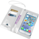 """CELLY Splash Wallet univerzální voděodolné pouzdro s peněženkou pro telefony 5,7 """", bílé"""