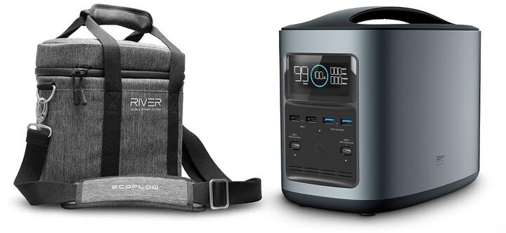 EcoFlow RIVER370 Portable Power Station s přenosnou brašnou