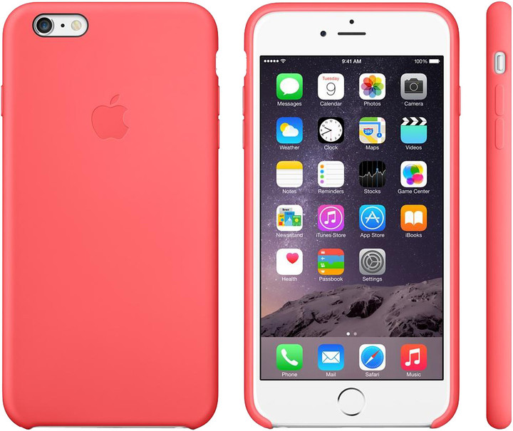 Apple Silicone Case pro iPhone 6 Plus, růžová