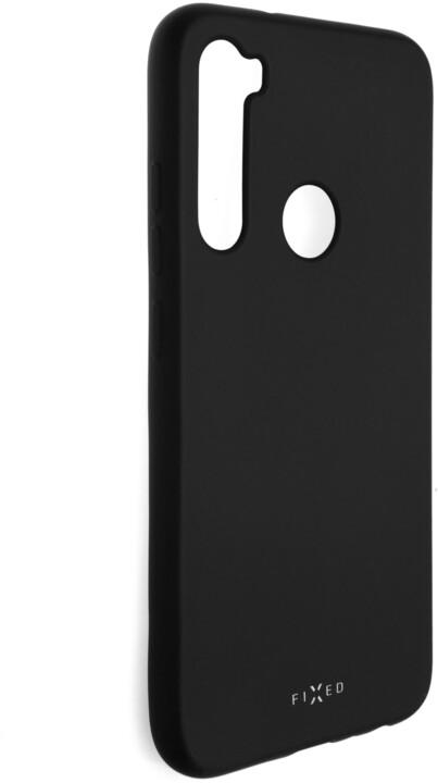 FIXED pogumovaný kryt Story pro Xiaomi Redmi Note 8, černá