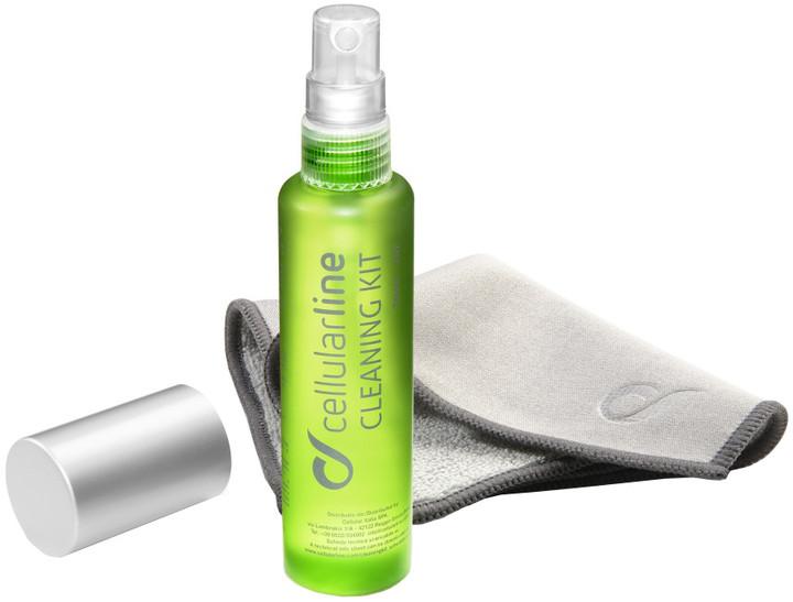 Cellularline CLEANING KIT Čistící sada pro displeje telefonů a tabletů, utěrka + gel 30ml