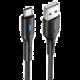 USAMS US-SJ460 Type-C dobíjecí/datový kabel s vypínáním 1,2m U-Bob Série, černá