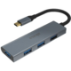 Akasa hub USB Type-C, 4x USB 3.0, 18cm