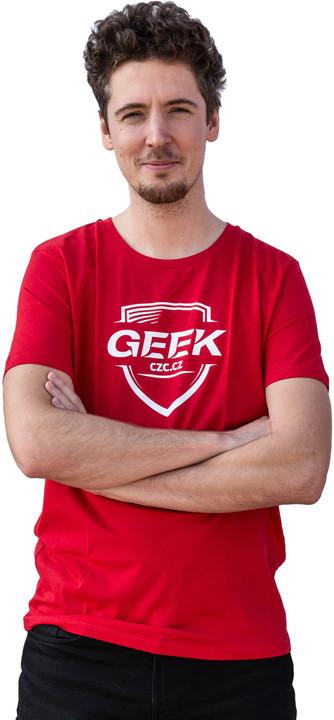 tričko GEEK pánské, červené (S)