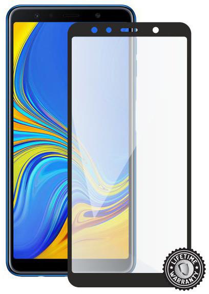Screenshield ochrana displeje Tempered Glass pro SAMSUNG A750 Galaxy A7 2018 (full cover), černá