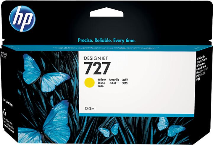 HP B3P21A náplň č.727, žlutá
