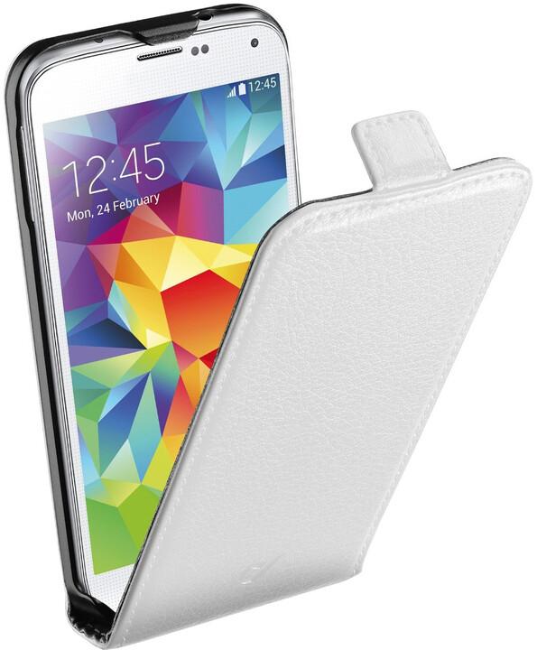 CellularLine Flap Essential pouzdro pro Galaxy S5, bílá