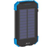 XLAYER powerbanka PLUS Solar, bezdrátové nabíjení, Qi, 10000mAh, černá/modrá - 217168